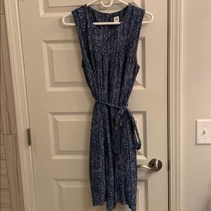 Blue toned Gap trapeze dress
